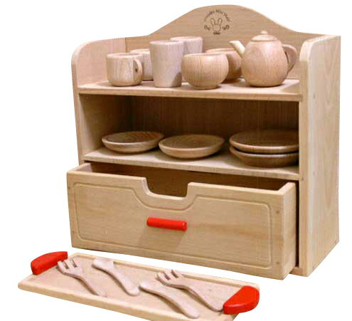 Woodpal rakuten global market like to get into the for Kitchen set wooden
