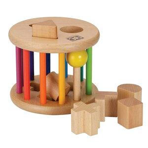 木のおもちゃ 型はめ「ローリングパズルネオ」 ニチガ
