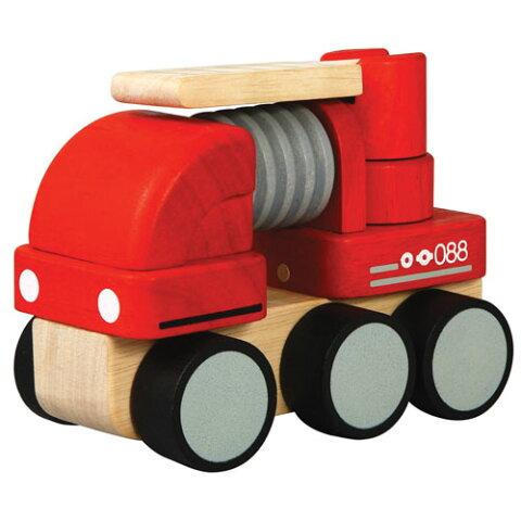 ミニ消防車プラントイ 木のおもちゃ出産祝い 男の子 木のおもちゃ 車 おもちゃ 玩具 木製 【お誕生日】1歳 2歳 :男【楽ギフ_包装】【楽ギフ_のし】【楽ギフ_メッセ入力】