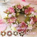 母の日 花 リース 母の日 ロマンチック ヌーベルローズリース 送料無料 造花 リース 選べるカラー...