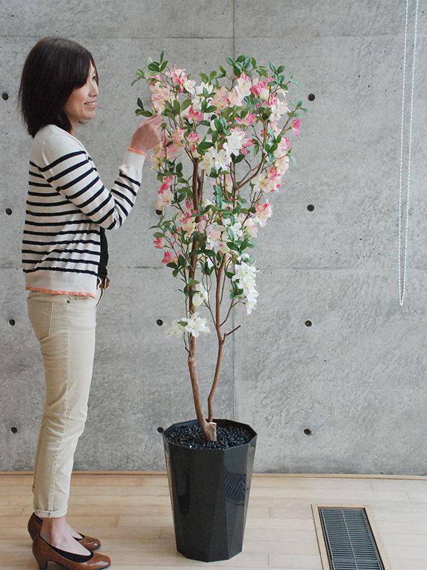 【人工観葉植物】【光触媒加工品】【椿160cm】【送料無料】【精巧な作り】造花
