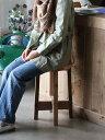 OLD ASHIBA(足場板古材)丸椅子(イス) 高さ500mm 無塗装