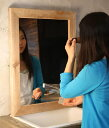 OLD ASHIBA(足場板古材)ミラー(鏡)A型 Lサイズ 無塗装695mm×520mm【アンティーク風】【受注生産】
