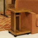 OLD ASHIBA(足場板古材)ソファ用サイドテーブル ※キャスター付きBタイプ(棚付き) 塗装仕上げ【受注生産】