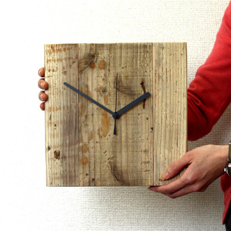 OLD ASHIBA(足場板古材)掛け時計 無塗装