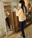 OLD ASHIBA(足場板古材)ミラー(鏡)A型 姿見Lサイズ 無塗装1600mm×520mm【アンティーク風】【受注生産】