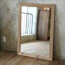 OLD ASHIBA(足場板古材)ミラー(鏡)A型 XLサイズ 無塗装1020mm×730mm【アンティーク風】[受注生産]