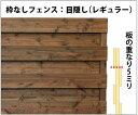 枠なしフェンス:目隠し◇国産杉幅210~300mm×高さ485mm×奥行35mm[受注生産] 【小型商品】