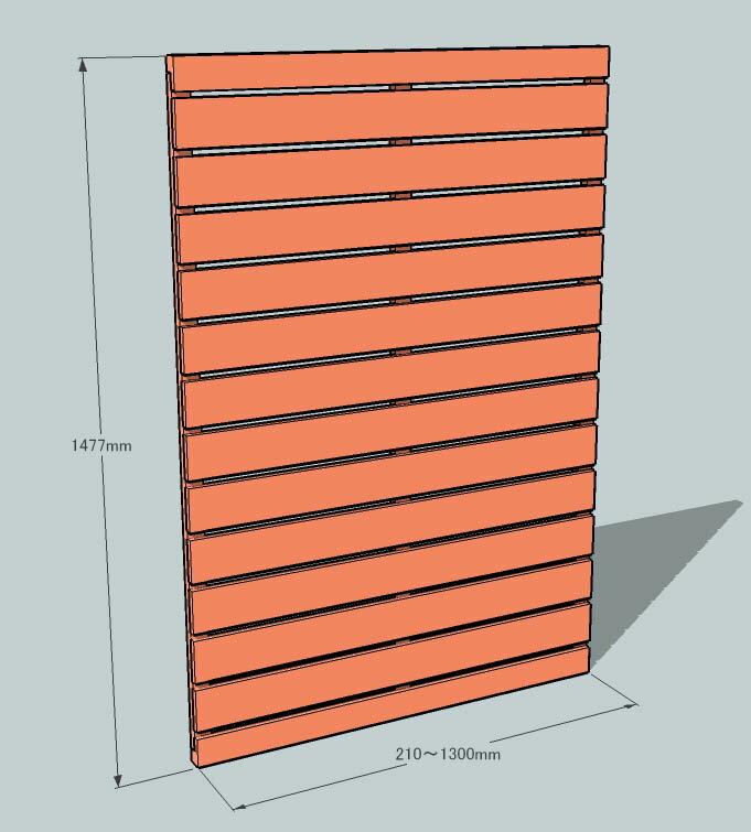 枠付きフェンス:横板C(隙間15ミリ)◇国産杉...の紹介画像3