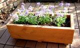一个简单的木制花盆状。可以用作户外的盖子它使用的存储。再生木] [原木种植] [矩形广场花盆[スクエア プランター長方形幅595mm×奥行230mm×高さ205mm【木製プランター】]