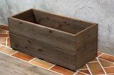 スクエア プランター長方形「特大」(2段) 標準色【木製プランター】【リサイクルウッド】