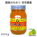 国産はちみつ生産直売 百花蜂蜜600g【純粋非加熱】広島県産・国産蜂蜜