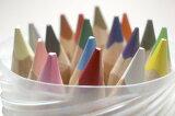 三角のグリップで握りやすいリラ社 色鉛筆ファルビー(軸白木)18色PPボックス入