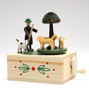 ザイフェンの手回しオルゴール羊飼い【おもちゃ歳か...の商品画像