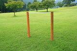 遊具の定番鉄棒をお庭に設置しませんか?逆上がりの練習にもってこいです。屋外 お庭用1連 鉄棒 カーキ色 ACQ防腐加工品 屋外 お庭用