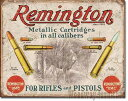 アメリカンブリキ看板★レミントン-REMINGTON 猟銃 弾丸アドバタイジング広告(ヴィンテージ風)アドバタイジング広告★