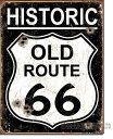 アメリカンブリキ看板★ヒストリックオールドルート66-HISTORIC OLD ROUTE66(ヴィンテージ風)道路標識★