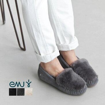 [W11705]emu(エミュ)Cairns Reverse Furシープスキン スエードモカシン 【ゆうパケット対象外】【佐川急便送料無料】I