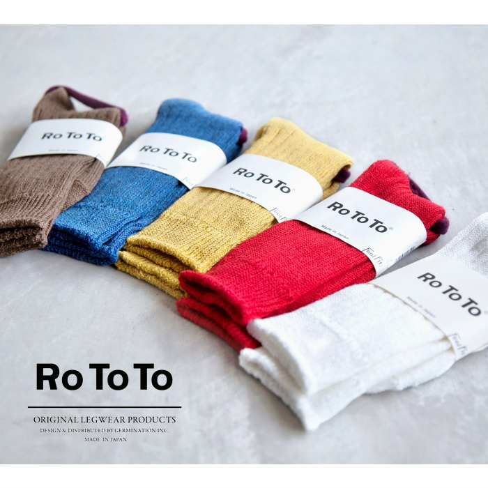 [R1010] RoToTo (Lotto) Linen cotton rib socks (linencottenrib socks / Socks) K