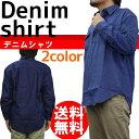 デニムシャツ 綿100% 2サイズ(3L/4L)2色より メンズ/紳士/男性