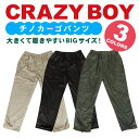 裏フリース チノカーゴパンツ 前ファスナータイプ 3L/4L 3色から/大きいサイズ・大寸・KING SIZE(キングサイズ)【CRAZY BOY】