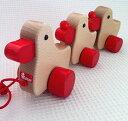 ニック社 NIC あひるの家族 【木のおもちゃ 木製 知育玩具 出産祝い お誕生日 積み木 人気 プルトイ プルトーイ】
