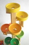 ベック beck トレイクーゲルタワーレインボー 【木のおもちゃ 木製 知育玩具 出産祝い 誕生日 スロープ ビー玉 トレイ 赤ちゃん ベビー 0歳 1歳 2歳 3歳】