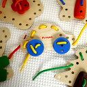 プレイミー ひも通し ソーイング 【PlayMeToys 木のおもちゃ 木製 ひもとおし 知育玩具】