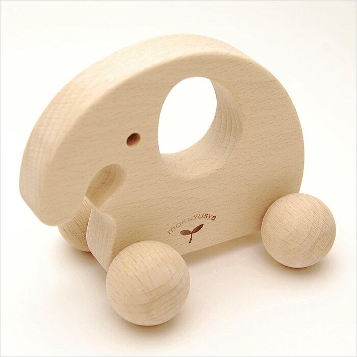 赤ちゃんのおもちゃにぎり車ゾウWOODYPUDDY赤ちゃんベビー0歳木のおもちゃ木製子供一歳出産祝い