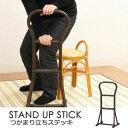 高齢者 補助椅子 籐 ラタン つかまり立ち ステッキ 和風 ハイタイプ ブラウン 茶色 【杖 ステッキ ポイント】