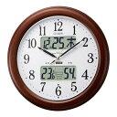 シンプル 洋風 北欧 温度計 電波時計 カレンダー ライト 照明 保証 時計 壁掛け 壁掛け時計 掛け時計 壁時計 ウォールクロック 掛時計 ..