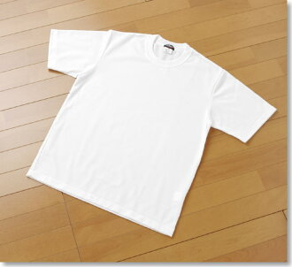 Gym clothes made in Japan fabric quick-drying short sleeve T shirt white / white / white / 180 / 185