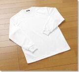 日本研究协会建议在学校的健身房制服日本体育教育标准!运动服 - 方便明天] [160-175]长袖的快干100%日本棉织物吸汗快干面料制成的T恤[日本製生地 速乾 長袖 体操服 Tシャツ 白/シロ/しろ/160/165/170/175/180/学校