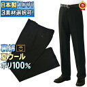 【送料無料】日本製 学生服 夏ズボン やや細め標準型 学生ズボン /さらっと裏綿/夏ウ