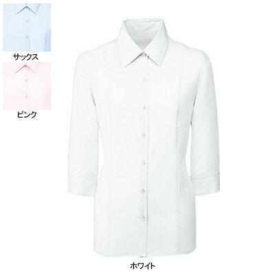 事務服・制服・オフィスウェア ヌーヴォ FB7097 ブラウス(七分袖) 5号〜19号
