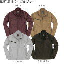 春夏 BURTLE 5101 綿100% 長袖 ブルゾン■3Lは¥100、4Lは¥300アップになります。