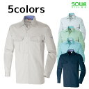 ショッピングソフト 作業服 作業着 ワークウェア 4L SOWA 桑和 秋冬作業服 長袖シャツ 4115 刺繍 ネーム刺繍