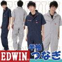 半袖つなぎ/半袖ツナギ/エドウインオールインワン EDWIN NEW LINE ミニヘリンボン シャドーストライプつなぎedwin-81003-bb