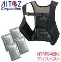 ショッピングベスト 空調服 アイスベスト 保冷剤付き メッシュベスト メンズ アイトス インナーベスト az-865932