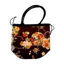 巾着バッグ 手毬 紫 和雑貨 和KOMONO 日本製 ギフト プレゼント 0420