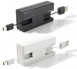 amadanaマルチ充電ケーブル 選べる2カラー ホワイト ブラック 白黒 GA-001 GA-001-BK GA-001-WH 携帯バッテリー充電器 DOCOMO FOMA・SOFTBANK 3G・AU・iPhone iPod touch・PSP・DSi・DS Lite・DSLLUSB充電器 デザイン家電のアマダナ!