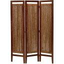 【送料無料】パーテーション(スクリーン) グランツシリーズ 3連 木製 高さ150cm アジアン風 ナチュラル【代引不可】