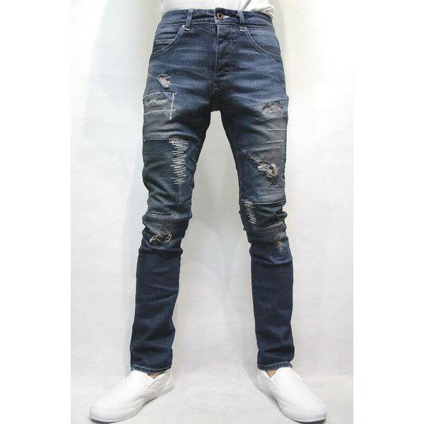 【送料無料】VADEL tight&easy denim trousers INDIGO サイズ44【代引不可】
