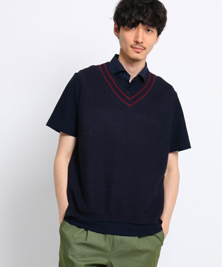 TAKEO KIKUCHI(タケオキクチ)リネンニットベスト[ メンズ ベスト ]