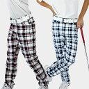 ゴルフ パンツ チェック ゴルフウェア メンズ ゴルフパンツ おしゃれ ストレッチ 大きいサイズ カラーパンツ 春夏 美脚シルエット ゴルフウエア M・L・XL・XXL