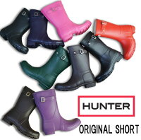 ハンターオリジナルショートHUW23758/HUNTERORIGINALSHORTメンズ・レディースBLACK・AUBERGINE・CHOCOLATE・DARKOLIVE・FUCHSIA・GREENNAVY・REDレインブーツRAINBOOTショート丈//【YDKG-m】