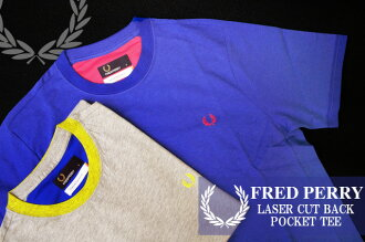 Men Fred Perry M2244 レーサーカット back pocket tee / FRED PERRY LASER CUT BACK POCKET TEE men's casual short-sleeved shirts Laurel 250(V.GREY MARL) and A73(P.OLYMPIAN) and non-wrapping * / / fs2gm