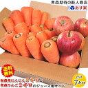 【送料無料】無農薬にんじんとりんごのジュース用セットニンジン5キロとリンゴ2キロ