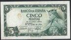 スペイン 5 peseta 1954年 カスティーリャ王アルフォンソ10世/国立図書博物館 極美++