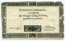 ★必見★フランス革命当時の紙幣 25 livres 1792年 serie 368 美